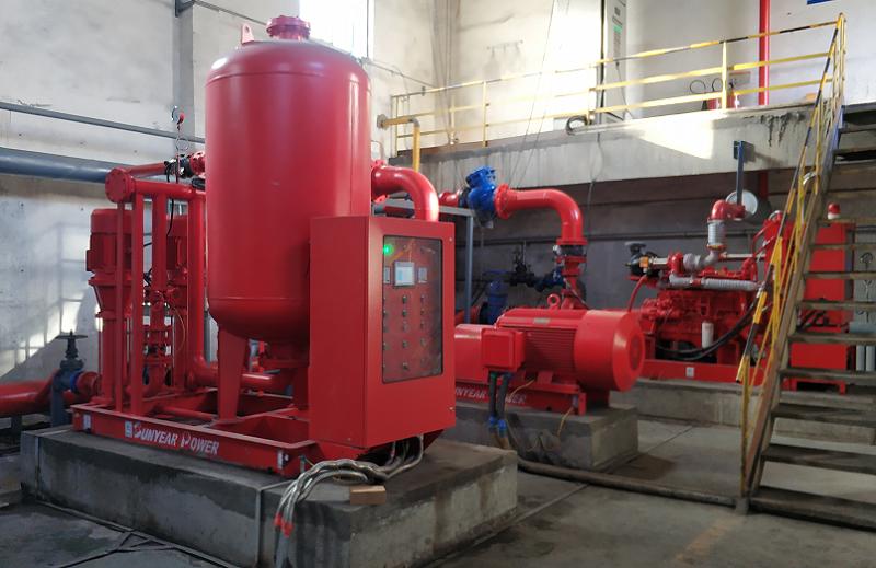 锦源化工柴油机消防泵,电动消防泵 稳压给水装置