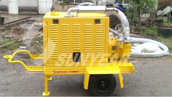 三业科技最小移动泵车在衡阳市城市道路建设总公司的应用