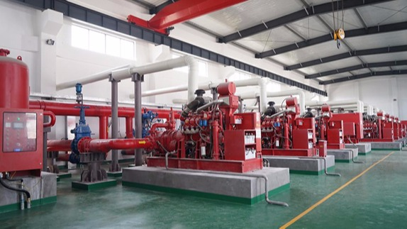 三业科技消防泵组正式投入连云港赣榆港区使用
