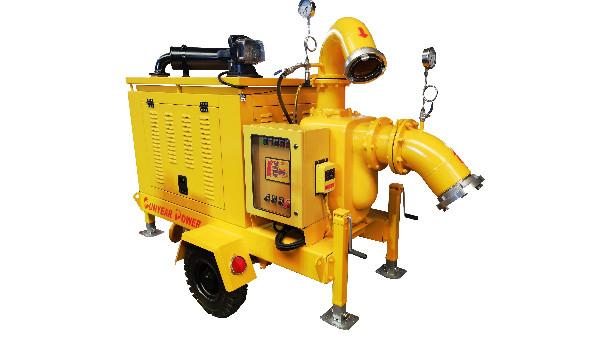 三业科技提前交货--2台移动泵车