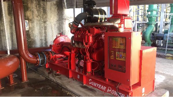 柴油机消防水泵完成调试--煤化工行业