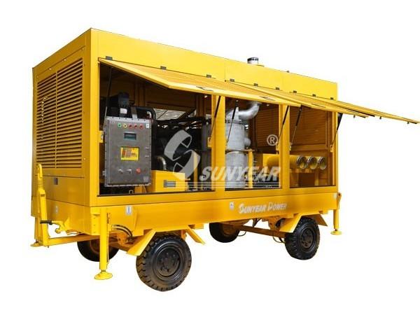 防爆柴油机排水泵车
