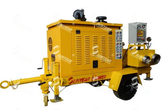 应急抢险排涝泵车