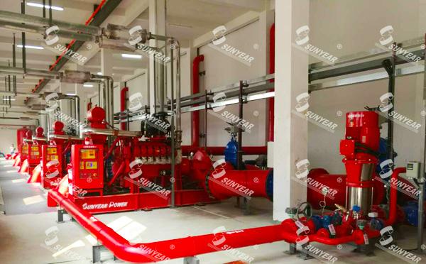 白云机库消防泵房柴油机水泵
